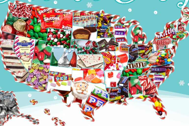 Sweet map shows most popular Christmas candy by state