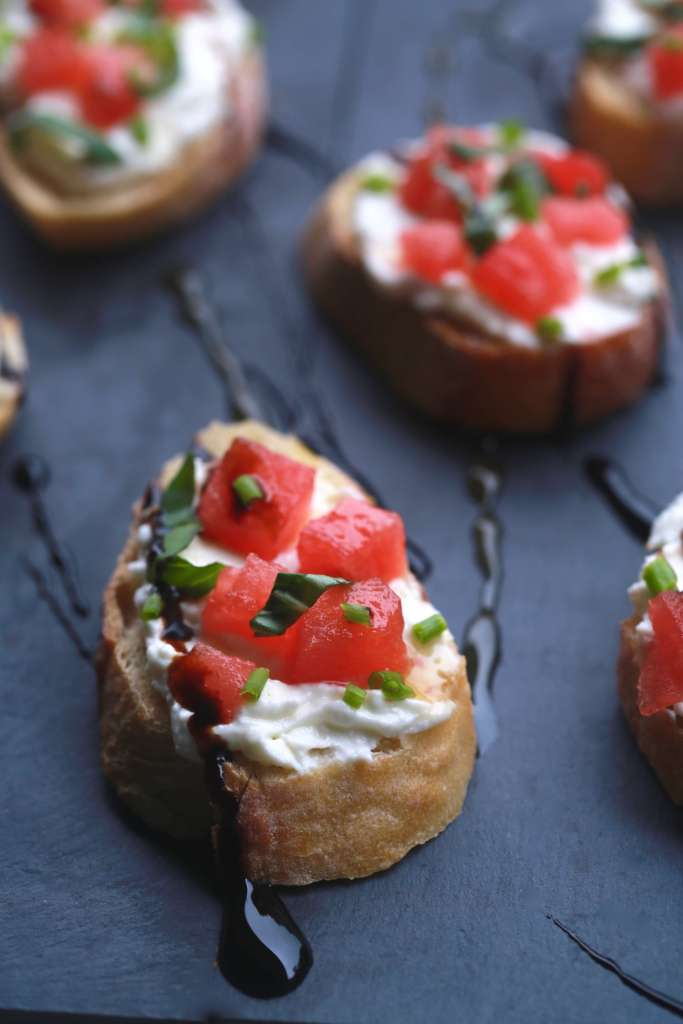 Watermelon and whipped feta bruschetta bites_2