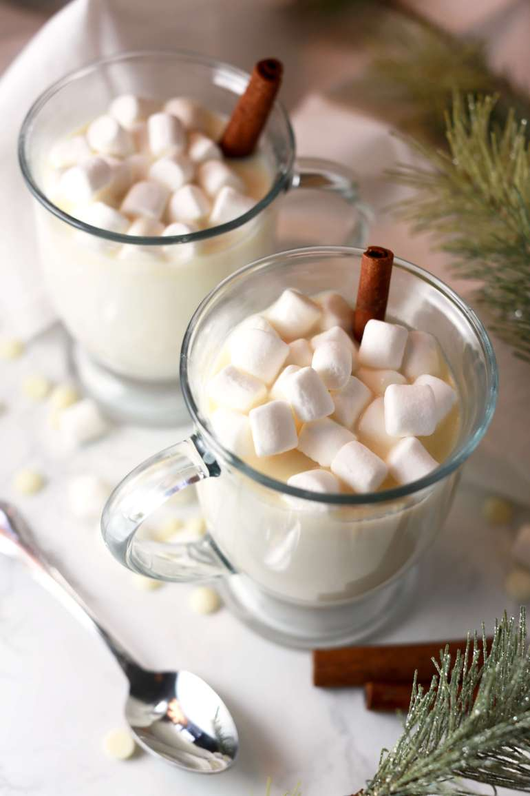 Winter white hot chocolate with cinnamon_3