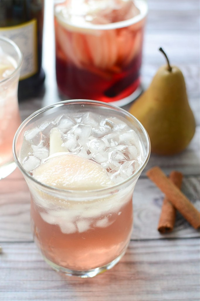 pear pomegranate prosecco sangria