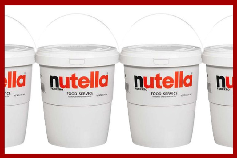 Costco is selling giant 6.6 pound buckets of Nutella