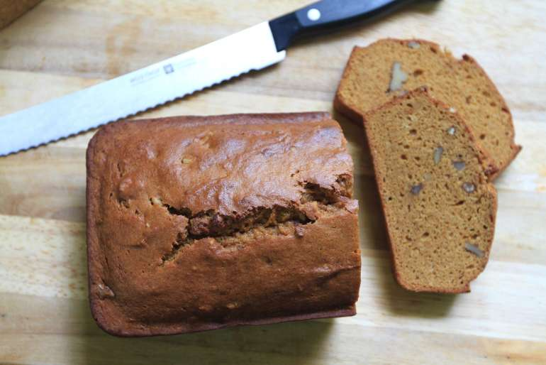 Pumpkin pound cake is just the right amount of sweetness for a quick breakfast or after dinner dessert.