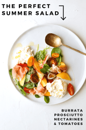 Burrata Salad with Proscuittto + Nectarines