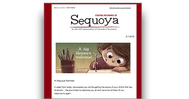 Sequoya Weekly Email Newsletters