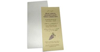 Wine and Cheese Custom Invitations