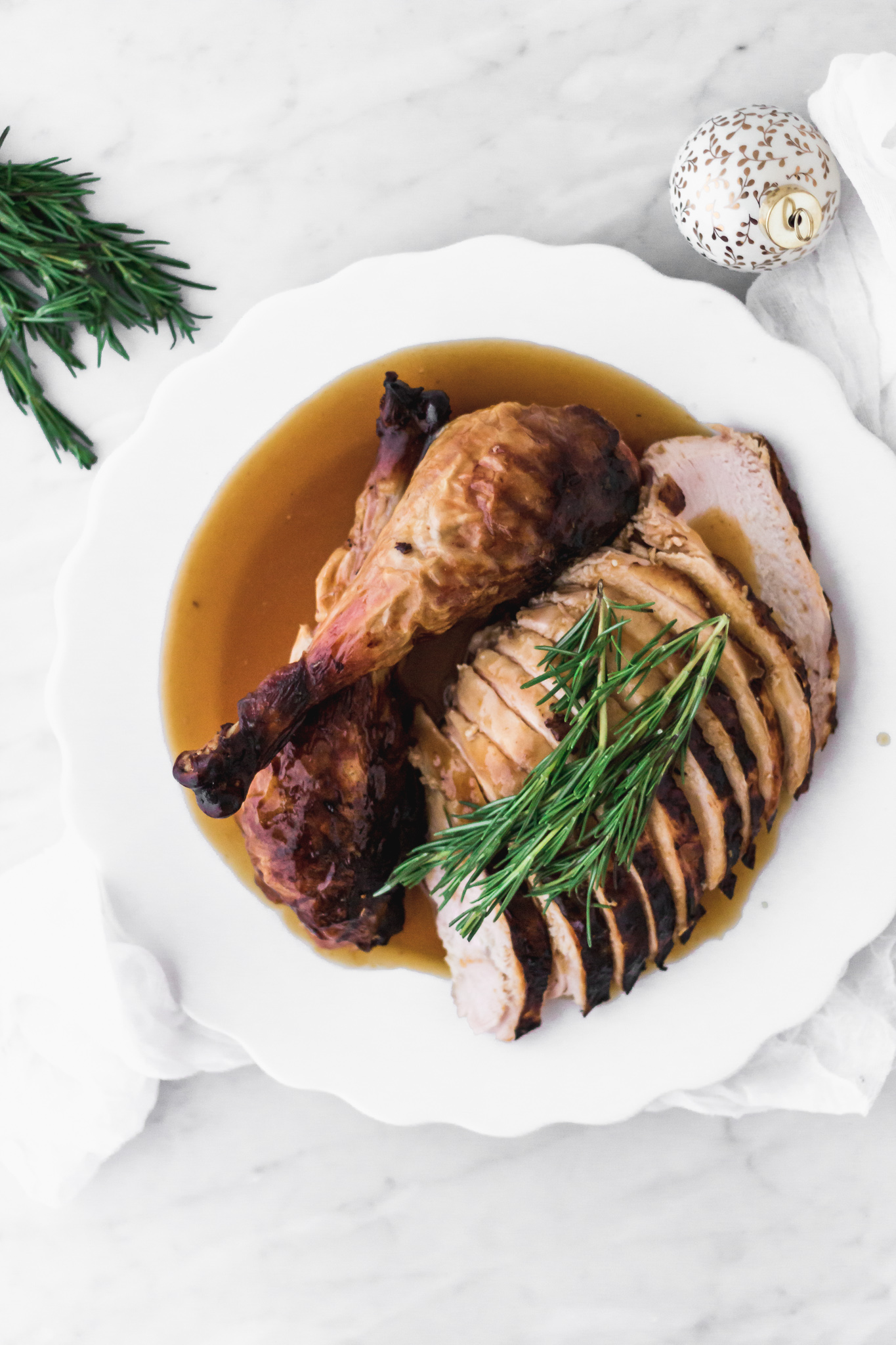 Roasted turkey with honey and citrus