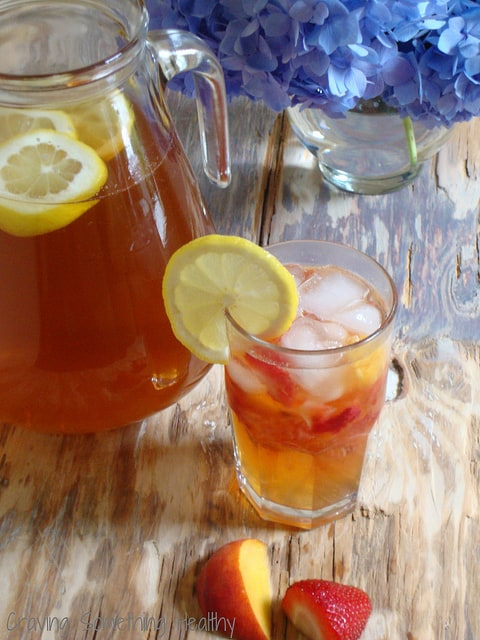Fruited Iced Sun Tea |Craving Something Healthy