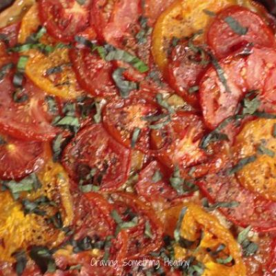 Summer Roasted Tomato Tart