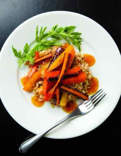Glazed Carrots with Farro|Capital Style