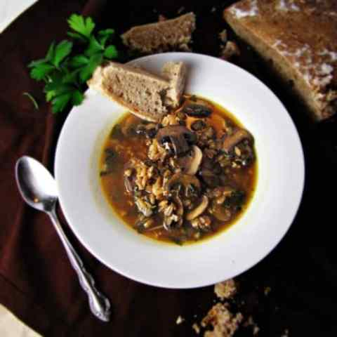 http://greatist.com/health/recipe-mushroom-farro-soup/