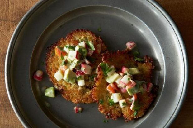 Golden Quinoa Cakes with Salsa Fresca|Food52