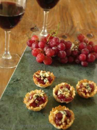 Grape and Blue Cheese Tartlets|Craving Something Healthy