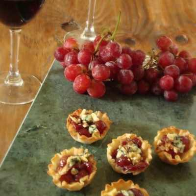Grape and Blue Cheese Tartlets