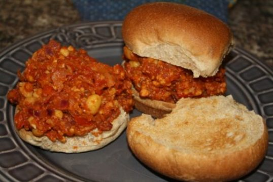 Sloppy Tempeh and Chickpea Joe's from Herbal Academy of New England