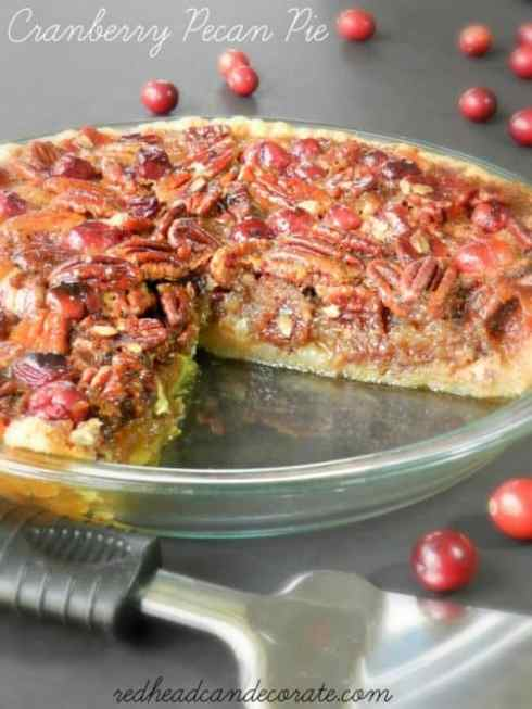 Cranberry Pecan Pie Redhead Can Decorate