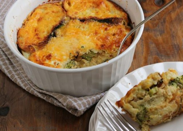 Broccoli Cheddar Strata|Craving Something Healthy