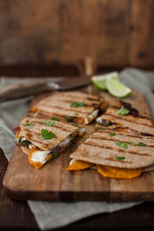Sweet potato quesadilla|Naturally Ella