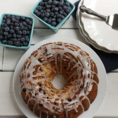 Wild Blueberry Lemon Cream Cheese Pound Cake