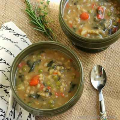 Heart Smart Bean and Barley Vegetable Soup