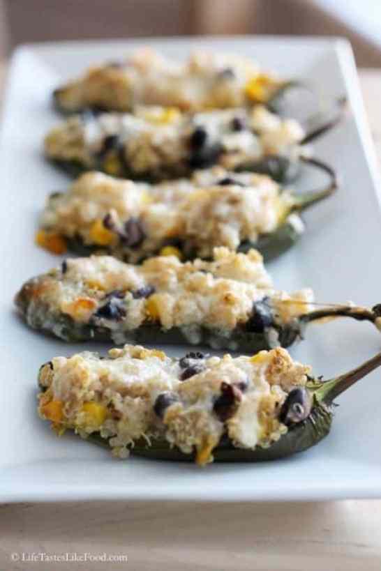 Quinoa Stuffed Jalapenos|Cooking Quinoa