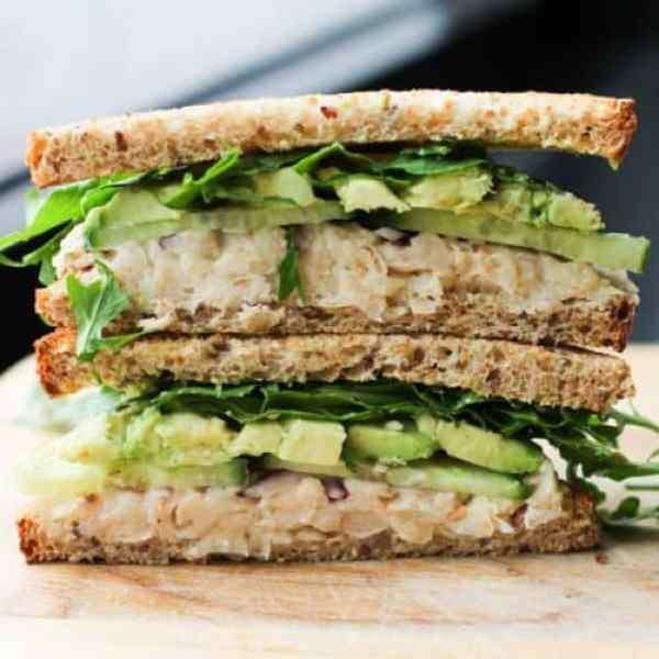 Smashed White Bean and Avocado Sandwich|Culinary Colleen