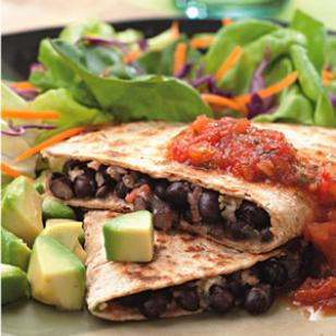 Black Bean Quesadillas|Eating Well