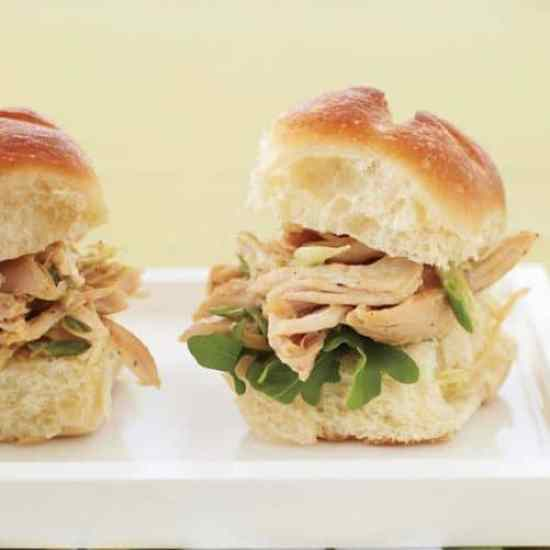 Indian Pulled Chicken Sandwiches|Food and Wine