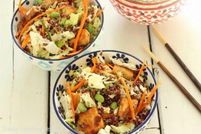 Sesame Tofu Salad with Quinoa Craving Something Healthy