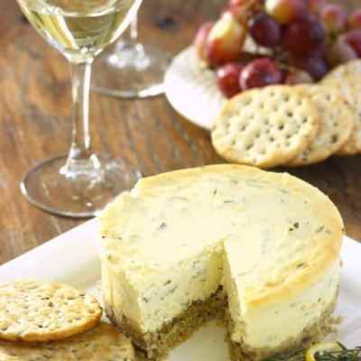 Gluten-Free Lemon Herb Savory Cheesecake