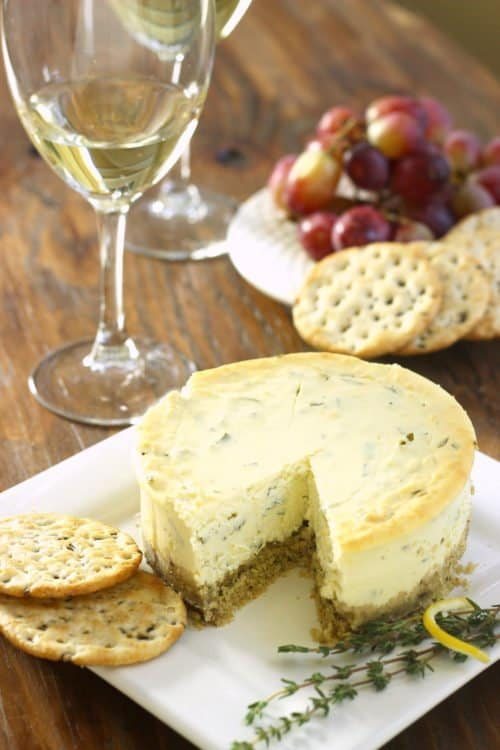 Lemon Herb Savory Cheesecake Appetizer|Craving Something Healthy