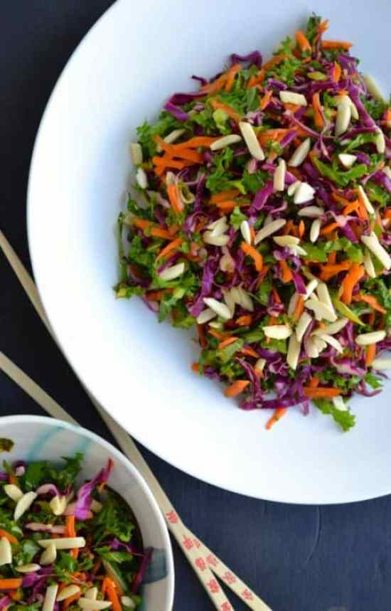 Asian Kale Slaw|Taste Love and Nourish