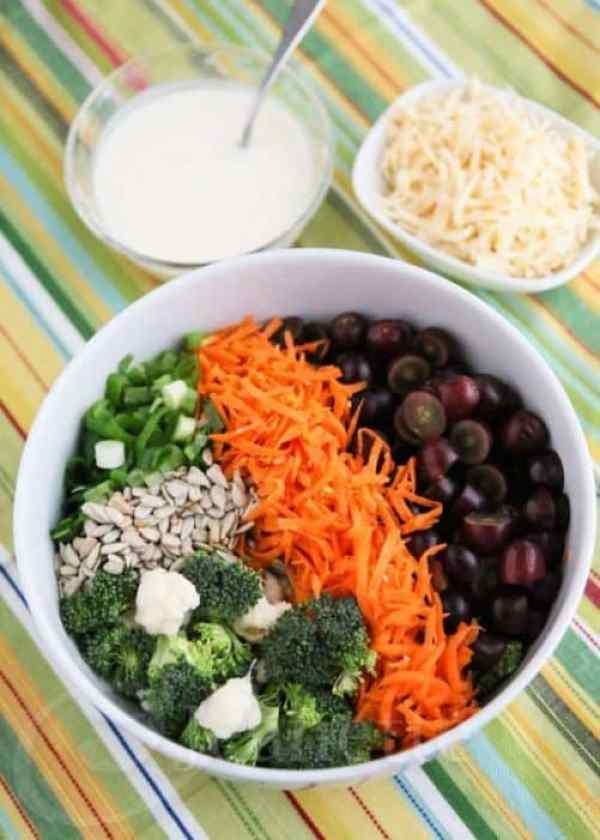 Broccoli Cauliflower Carrot Salad Jeanett's Healthy Living