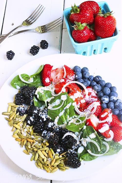 Very Berry Spinach Salad|Craving Something Healthy