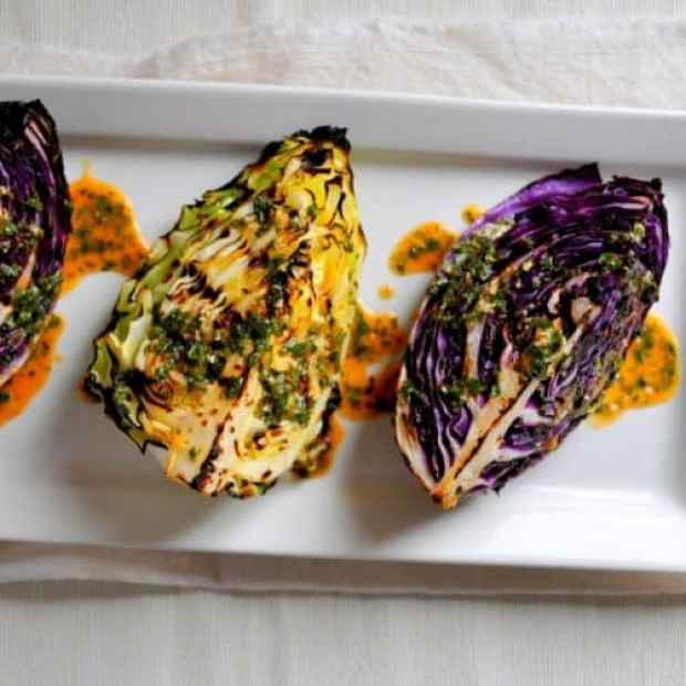 Grilled Cabbage Wedges with Spicy Lime|Breanna's Recipe Box