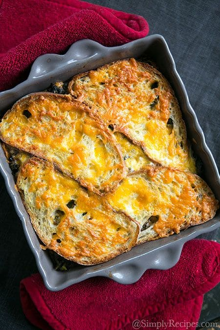 Kale Mushroom and Cheddar Bake|Simply Recipes