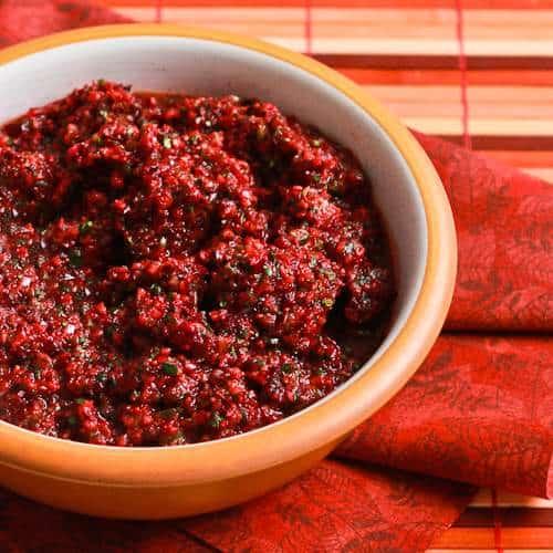 Trina's Low Sugar Fresh Cranberry Salsa|Kalyn's Kitchen