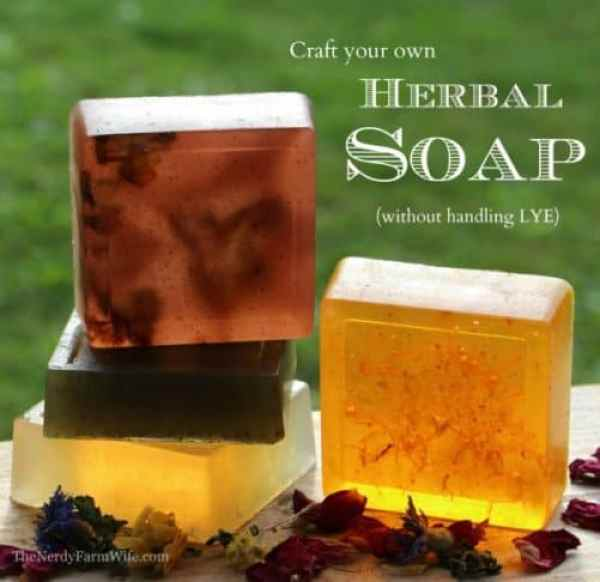 Herb Soap|The Nerdy Wife