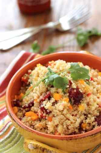 Cranberry Cilantro Quinoa Salad|Craving Something Healthy