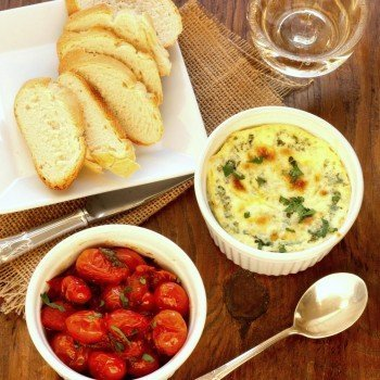 Baked Ricotta with Caramelized Tomatoes