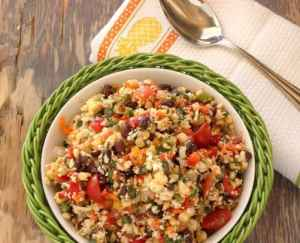 Southwest Cauliflower Rice Confetti Salad|Craving Something Healthy