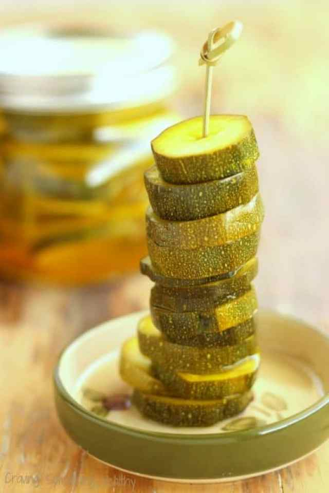 Zesty Zucchini Pickles|Craving Something Healthy