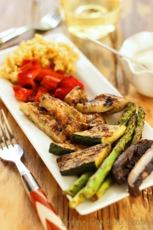 Jamaican Jerk Grilled Vegetables are a perfect blend of sweet and spicyand they're a perfect side dish with meat or fish @Craving Something Healthy