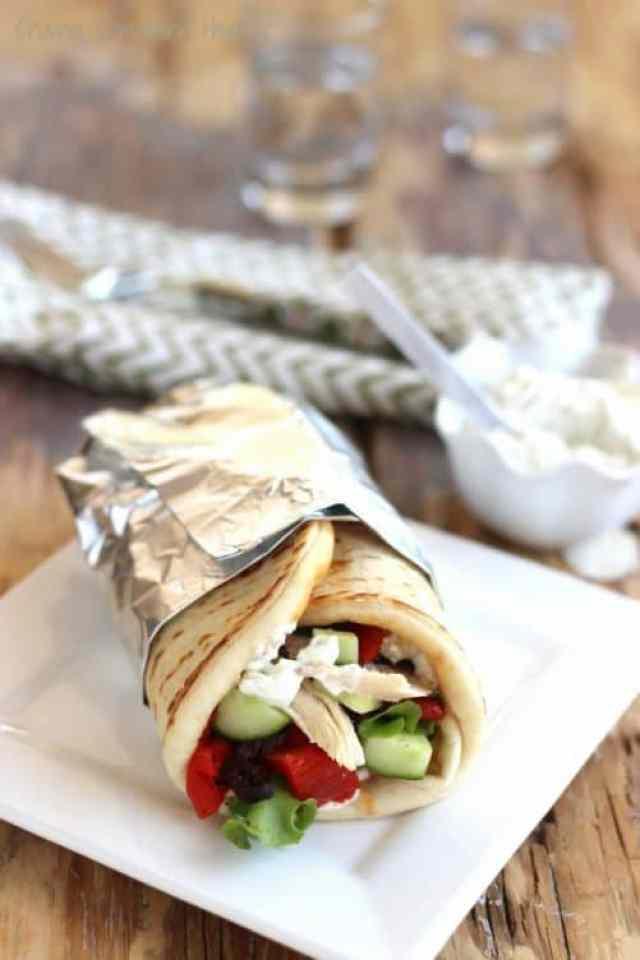 Greek Chicken Gyros with Tzatziki Sauce Craving Something Healthy