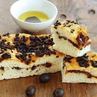 Black Olive and Sun-Dried Tomato Focaccia