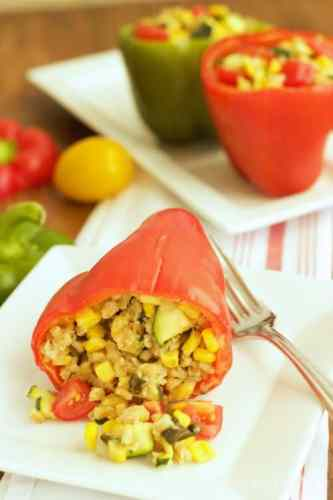 Garden Stuffed Sweet Peppers|Craving Something Healthy