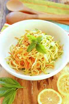 Lemon Parmesan Zucchini Noodles Craving Something Healthy
