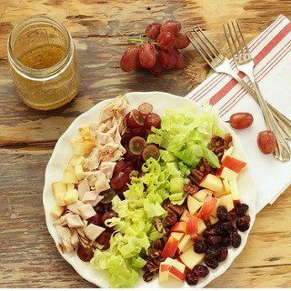 Smoked Turkey Harvest Salad with Maple Vinaigrette