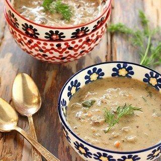 Polish Mushroom Soup with Barley