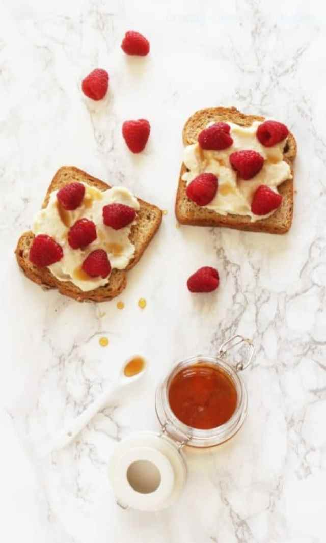 Raspberry Ricotta Toast|Craving Something Healthy