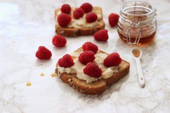 Raspberry Ricotta Toast Craving Something Healthy